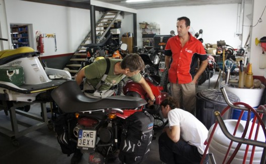 warsztat motocyklowy w Tres Arroyes