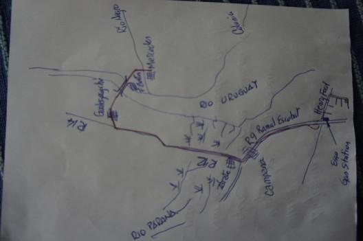 Mapa przygotowana przez Horacio