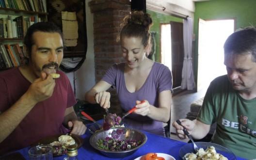 Konsumujemy pierogi z sałatką z pietruszki zielonej i buraków