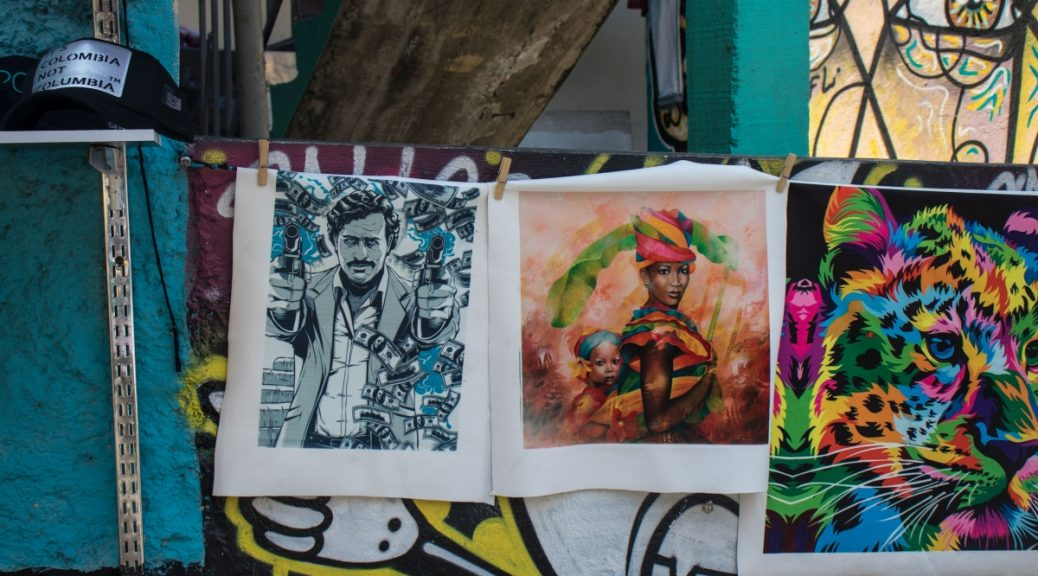 Graffiti uliczne w Kolumbii