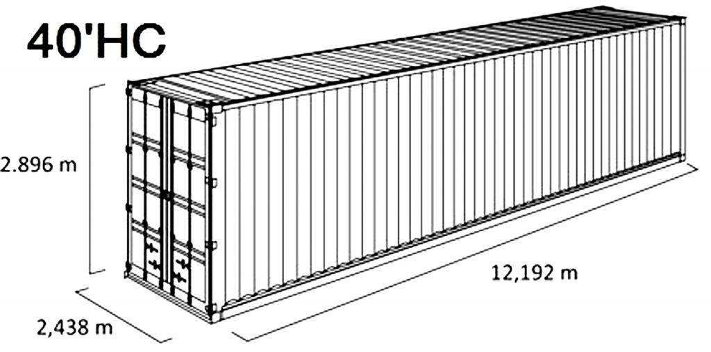 Transport w kontenerze HC 40'